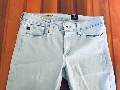 032f357802e5 AG Adriano Goldschmied Anthropologie Stevie Ankle Slim Jeans Baby Blue sz 26