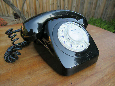 Vintage Telephone Black Table Dial Phone  C1975    *Superb*