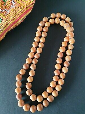 Old Chinese Seed Necklace 70 Beads …beautiful accent piece