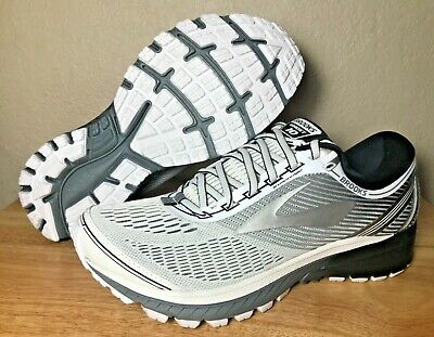 0a17f58dc32 Brooks Ghost 10 Mens Running Shoes DNA White Silver Black SZ New (  1102571D167 )