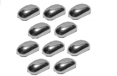 Ten (10) x 1/10 Troy Ounce Silver Bars   .999 Silver   Hand Poured   Lot of 10