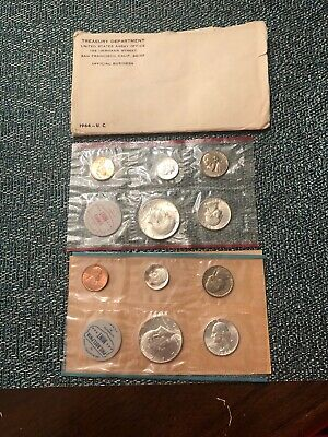 "1964 Official U.S. Mint Set. 10 coins Both ""P"" & ""D"""
