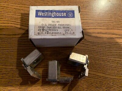 New! Box Of 3 Westinghouse O-L Relay Terminals Tk-4R 179C755G23 Size 3 & 4