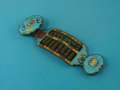 chinese old hand-carved cloisonne copper Ruyi abacus statue d02