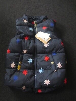 NWT Cotton on Kids navy puffer gilet with star motif