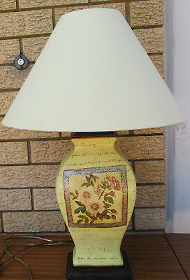 Attractive Vintage Ceramic Table Lamp, With Shade.  Working Order