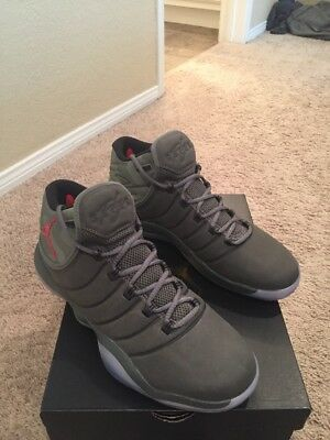 outlet store f6ad2 7be68 Air Jordan Lunar Super Fly 2017 Us Sz 10 River Rock Red Olive Camo 921203  051