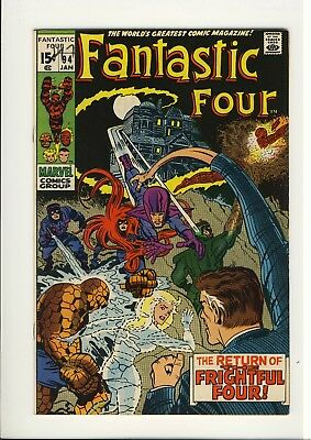 Fantastic Four 94  VF   JACK KIRBY  1st Agatha Harkness   Early Bronze Age 1970
