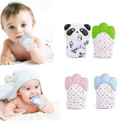 Kids Baby Teething Mitten Silicone Mitt Infants Bite Training Glove Toy BPA Free