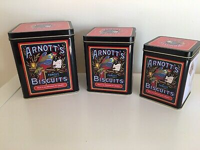 Retro Style Arnotts Tins Set Of 3. Amazing Condition!