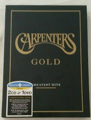 Carpenters Gold: Greatest Hits by The Carpenters (2 CDs & 1 DVD, 2003)