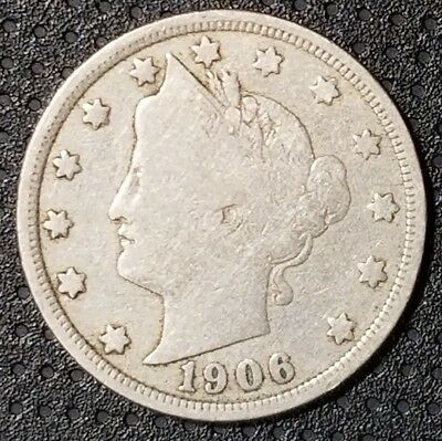"""1906 Liberty Head """"V"""" Nickel Nice Coin For Your Collection FREE SHIPPING"""