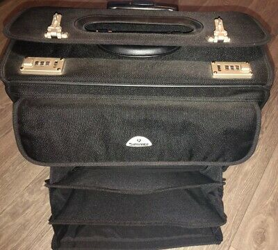 Samsonite Rolling Pilots Briefcase Locking Bag