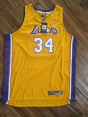 6e8fa90a80b Nike Team 56 3Xl Los Angeles Lakers #34 Shaquille O'neal Hand Signed Jersey