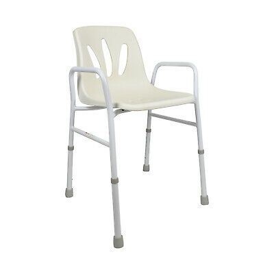 PE Care Steel Shower Chair With Bucket Seat, Adjustable Height, Ausstock