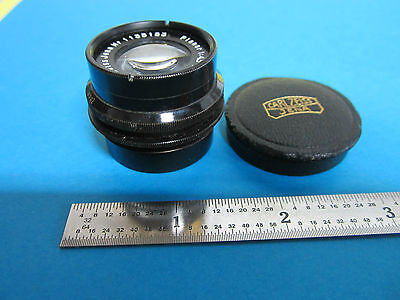 Rare Microscope Objective Verres / Carl Zeiss Jena Allemagne Planaire 4.5x 7.5cm