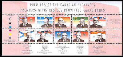1998 Canada Stamp Full Sheet 1709! mint MNH Provincial Premiers!
