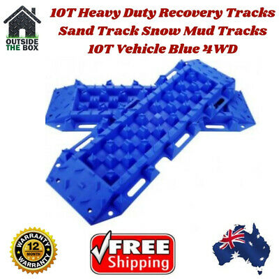 10t Heavy Duty Sand Tracks Recovery Mud Vehicle Snow Off Road Pair BLue Ton Bull