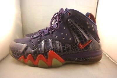 6a8b2d3becc Nike 555097-581 Charles Barkley Air Posite Phoenix Suns Orange Purple Sz 8.5