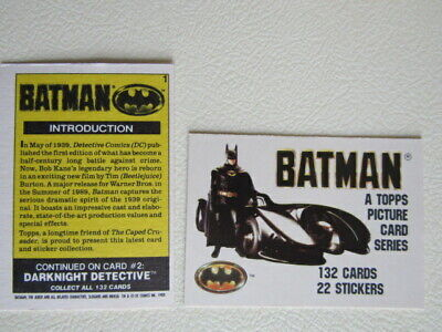 Topps Picture Card Series 1989 ~ BATMAN 132 Cards 22 Sticker Variants (e6)