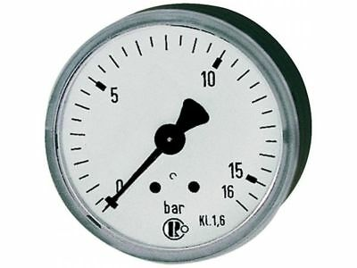 Standardmanometer, Kst.-Gehäuse (bar/psi) 40 mm G1/8 rückseitig 0-16 bar/235 psi