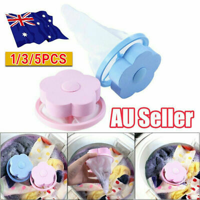 1/3/5Pcs Floating Pet Fur Catcher Reusable Hair Remover Tool for Washing Machine