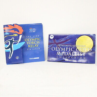2x 2000 Sydney Olympic Games Gold Medallist Collection and Pin Album #405