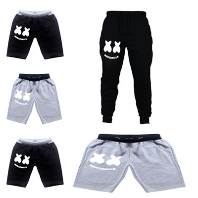 New DJ Marshmello Kids Casual shorts Pants Costume Clothes Casual Trousers Gift