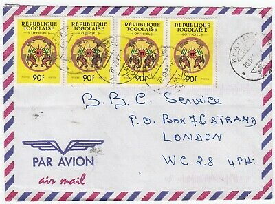 F7065 Kpalime CDS on air cover, 1997; 2x pair 90F Togolaise 'Official crest'