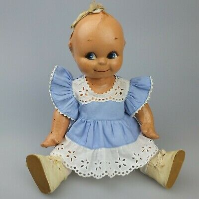 Vintage Composition Kewpie Doll with Outfit
