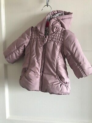 Baby Girls  Dusty Pink Mothercare Coat Jacket 3-6 Months