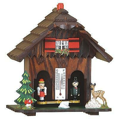 Black Forest weather house German Style with wooden figures from Germany