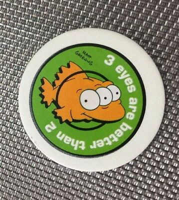 Tazos Pickers The Simpsons Rare Glow Number 27 TOXIC MELTDOWN