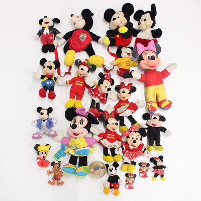 Collection of Disney's Mickey and Minnie Mouse Plush Doll Toys Assorted #710