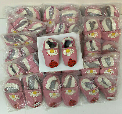 Baby girls pink Leather shoes job lot 17 pairs pram shoes  0-18 month Ladybird