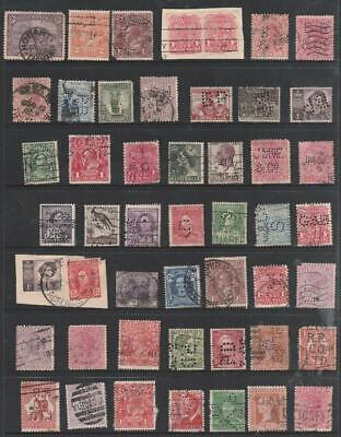 Collection Various Perfins & Issues Australia State & Commonwealth Use