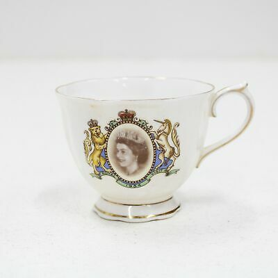 Vintage Queen Elizabeth Royal Albert Bone China Cup Royal Aust 1954 Visit #209