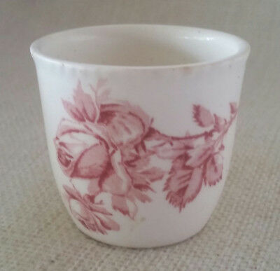 Vintage Ceramic Egg Cup Made in England Pink Rose ShabbyChic Egg Cup