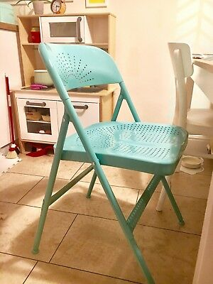Groovy Ikea Frode Folding Chair Turquoise Metal X2 Sold As Pair Lamtechconsult Wood Chair Design Ideas Lamtechconsultcom