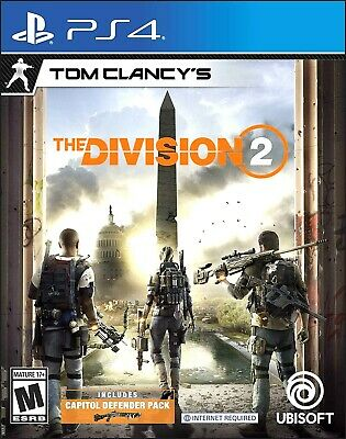Ganz Neu Verpackt Tom Clancy The Division 2 für Playstation 4 + Ps4 pro 4k Hdr