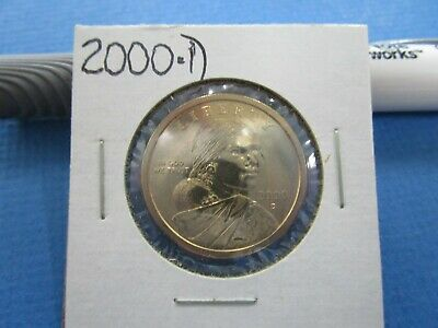 2000 D.  SACAGAWEA Golden Dollar Native American PROOF LIKE  Coin US Mint