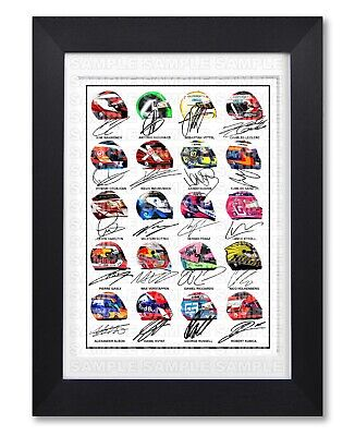 F1 Formula One 2019 All Drivers Teams 1 Signed Poster Print Photo Autograph Gift