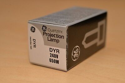 GE QUARTZLINE DYR 240V 650W PROJECTION LAMP ***NEW*** Great