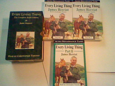 Every Living Thing by James Herriot ,Cassette Tape,All Creatures Great and Small
