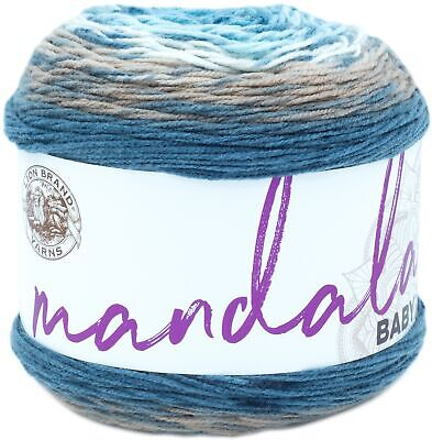 Cloudy Day Lion Brand Yarn 216-209 Ombre Life Yarn Pack of 3 Cakes