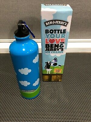 Ben And Jerry's Ice Cream Stainless Steel Insulated Water Bottle Boxed Brand New
