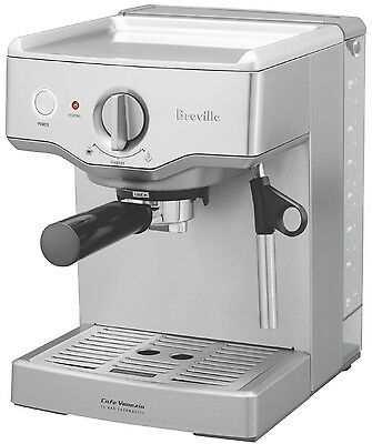 Breville Espresso Coffee Machine Expresso Maker Stainless Steel Barista Cup New