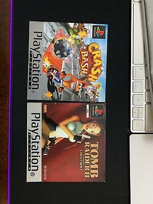 Crash Bash Platinum Manual Sony PlayStation PS1 Instructions Manual Only