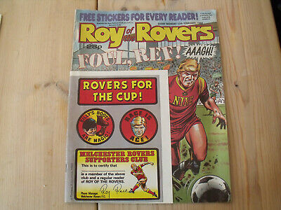 Vintage Roy Of The Rovers Comic With 1988 With Original Rovers Stickers