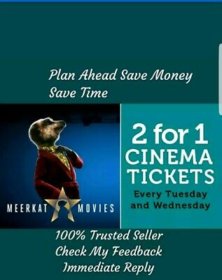 Meerkat Movies odeon 2 For 1 Cinema Code *Instant!*